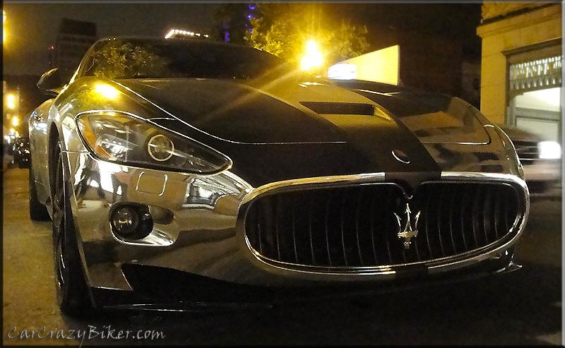 Silver/chrome Maserati
